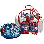 image of Spiderman Helmet, Knee & Elbow Pad Set