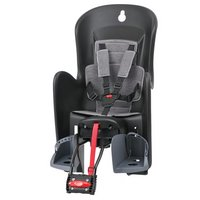 Polisport Bilby Reclinable Rear Child Bike Seat - Black/Grey