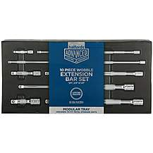 image of Halfords Advanced Modular Tray Set - 10pc Extension Bar Set