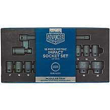 image of Halfords Advanced Modular Tray Set - 18pc Impact Socket Set