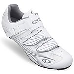 image of Giro Solara Patent Womens Cycling Shoes - White and Silver