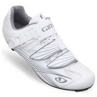 Giro Solara Patent Womens Cycling Shoes - White and Silver