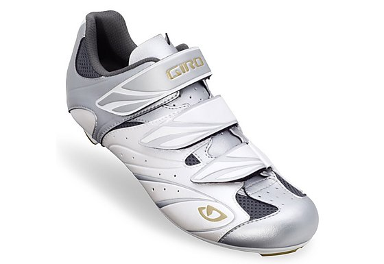 Giro Sante Womens Cycling Shoes - White and Silver