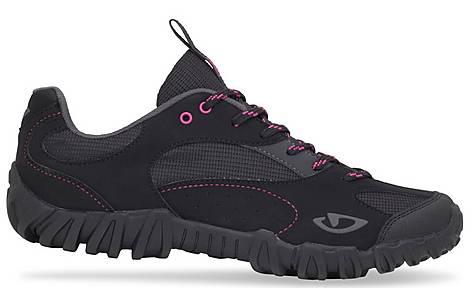 image of Giro Petra Womens Cycling Shoes - Black/Rhodamine Red