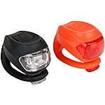 image of Halfords Super Slim Bike Light Set