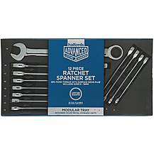 image of Halfords Advanced Modular Tray Set - 12 Piece Ratchet Spanner Set