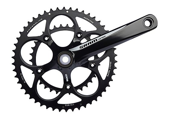 SRAM Apex GXP Chainset - White