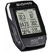 image of Sigma Rox 11 Cycle GPS with Heart Rate Monitor - Black