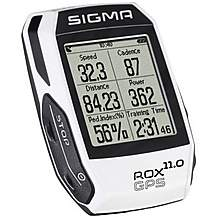 image of Sigma Rox 11 Cycle GPS with Heart Rate Monitor - White