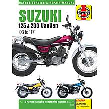 image of Haynes Suzuki RV 125 & 200 VanVan (03-17) Manual