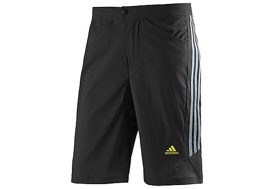 Adidas Response Mens Tour Shorts - Black & Silver
