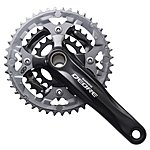 image of Shimano Deore FC-M590 2 Piece Design 9-Speed Chainset - Black
