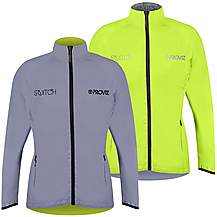 image of Proviz Womens Switch Cycling Jacket Silver/ Yellow