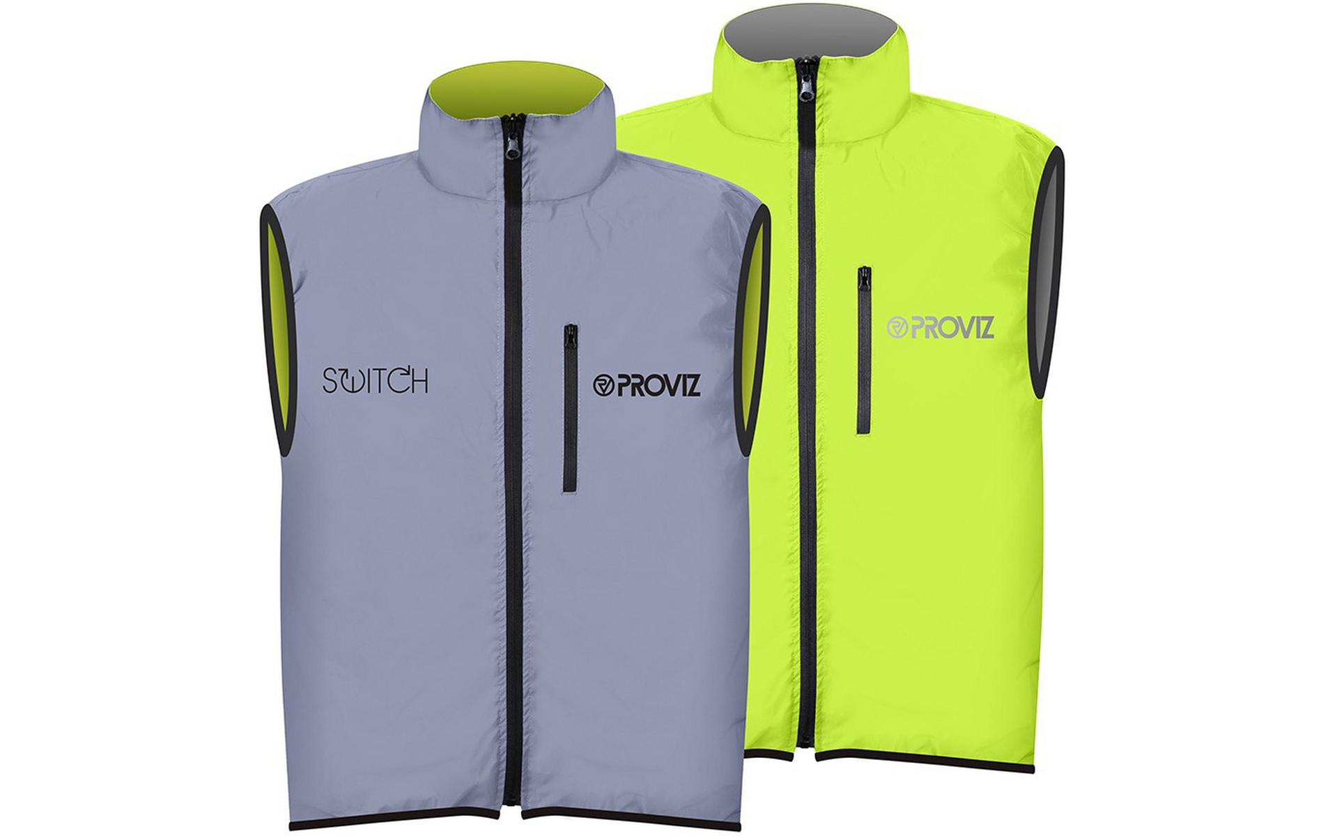 Proviz Switch Cycling Gilet Silver/Yellow, XXL