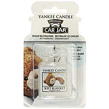 image of Yankee Candle Car Jar Ultimate Air Freshener in Soft Blanket