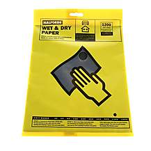 image of Halfords Wet & Dry Sanding Paper 1200 Grit