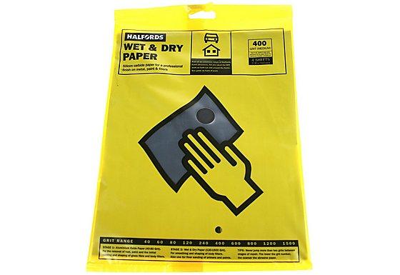 Halfords Wet & Dry Sanding Paper 400 Grit
