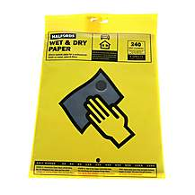 image of Halfords Wet & Dry Sanding Paper 240 Grit