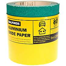 image of Halfords Aluminium Oxide Paper 5m Roll - 80 grit