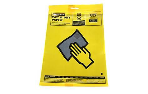 image of Halfords Wet & Dry Sanding Paper 1500 Grit