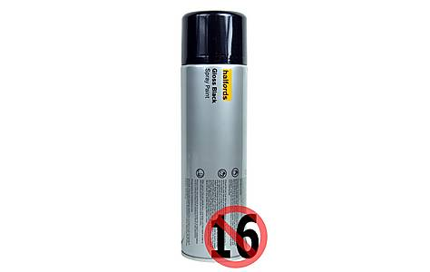 image of Halfords Gloss Black Spray Paint 500ml