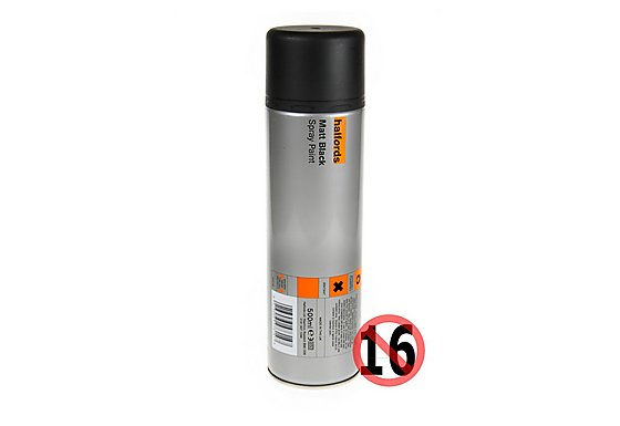 Halfords Matt Black Paint 500ml
