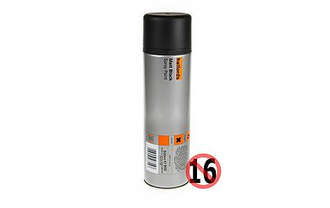 image of Halfords Matt Black Paint 500ml