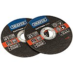 image of Draper 2 Piece 115mm Metal Cutting Discs