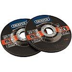 image of Draper 2 Piece 115mm Metal Grinding Discs