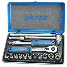 "image of Unior Socket Set - 4-13mm 1/4"" drive"