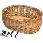 image of Basil Pluto Wicker Front Dog Basket