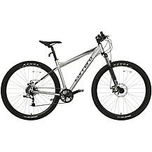 image of Carrera Sulcata Mens Mountain Bike - Silver