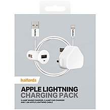 image of Halfords Lightning Wall Charging Pack- White