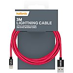 image of Halfords Lightning Cable 3M - Red/Charcoal