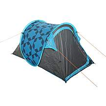 image of Halfords 2 Man Pop Up Tent - Blue
