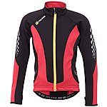 image of Polaris Venom Cycling Jersey Red/Black w/Yellow Zip