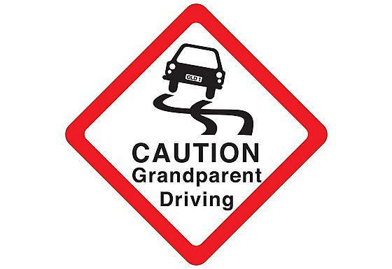 Halfords Caution Grandparent Driving Sign