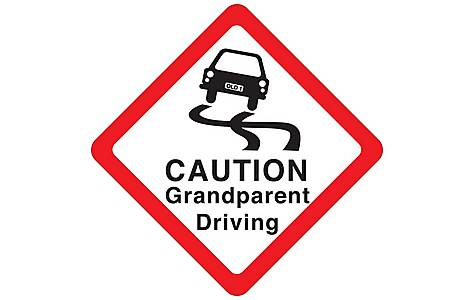 image of Halfords Caution Grandparent Driving Sign