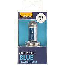image of Halfords 472 H4 Off Road Blue Car Bulb x 1