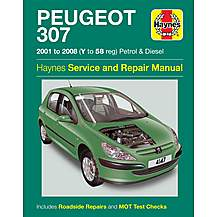 image of Haynes Peugeot 307 (01 - 08) Manual