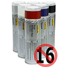 image of Halfords Honda Satin Silver Car Spray Paint 300ml