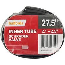 image of Halfords Schrader Innertube 27.5 x 2.1-2.5