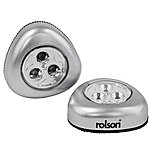 image of Rolson 2pc 3 LED Push Light