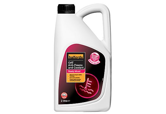 Halfords OAT Ready Mixed Antifreeze 2 Litres