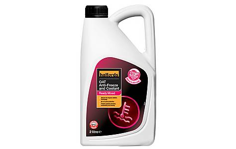 image of Halfords OAT Ready Mixed Antifreeze 2 Litres
