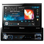"image of Pioneer AVH-X7500BT Double Din Multimedia player with 7"" fold-out touchscreen"