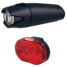image of Smart 4 Lux Front Light with 3 LED Rear Light - Black