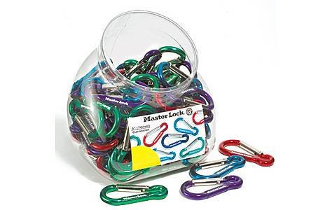 image of Master Lock Carabiner Hooks - Bowl of 100