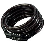 image of Master Lock 1200x8mm Combi Self Coiling Cable Lock - Black