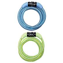 image of Master Lock 1200x8mm Combi Self Coiling Cable Coloured Locks (Box of 6 colours)